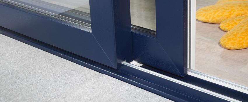 Hliníkové dveře posuvně sklopné PSK