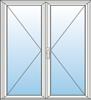 Dveře vchodové dvoudílné
