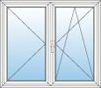 Okno dvoudílné