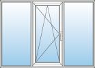 Jednokřídlé okno s výkladci