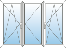 Okno trojdílné