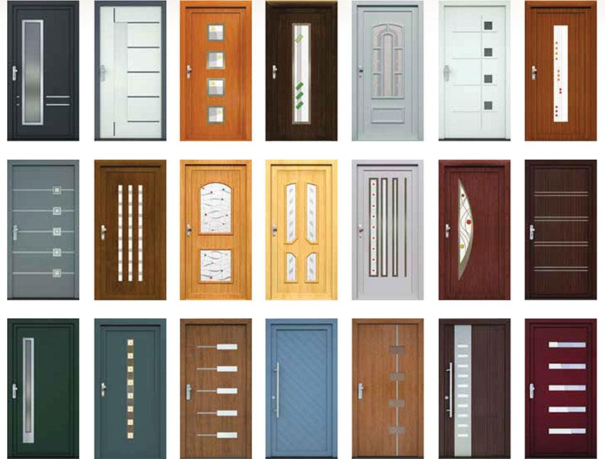 Plastové dveře vstupní designové