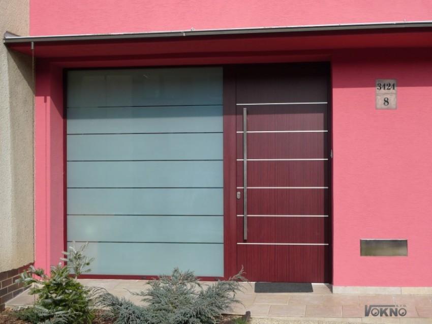 Panelové hliníkové dveře