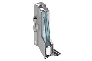 Hliníkové posuvné dveře sklopné (PSK)