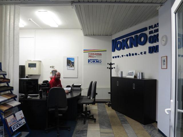 Kancelář pobočky V okno v Prostějově